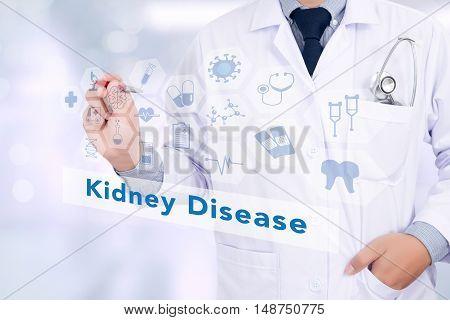Medicine Doctor Hand Working, Kidney Disease