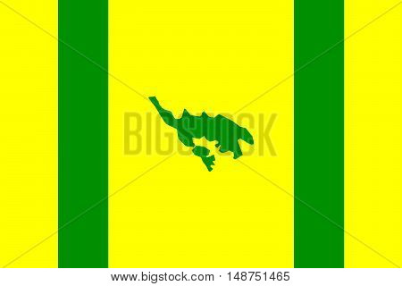 Flag of Isla Culebra (Snake Island) is an island-municipality of Puerto Rico United States
