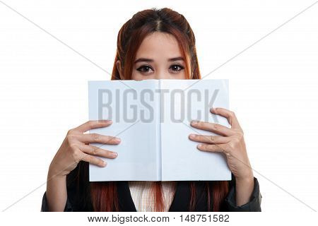Young Asian Business Woman With A Book.
