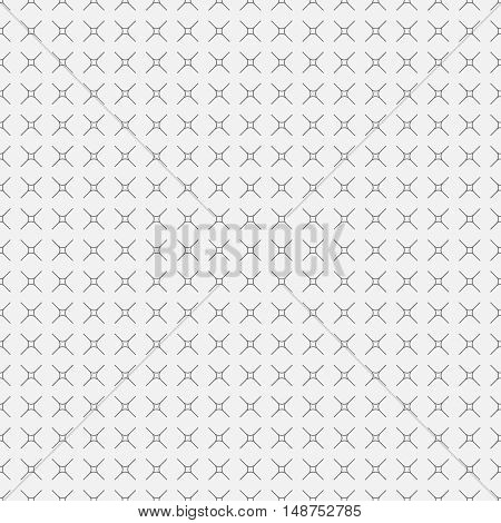 Vector seamless pattern. Abstract wrapping background. Classical simple geometric texture. Regularly repeating crosses rhombus. Graphical design element