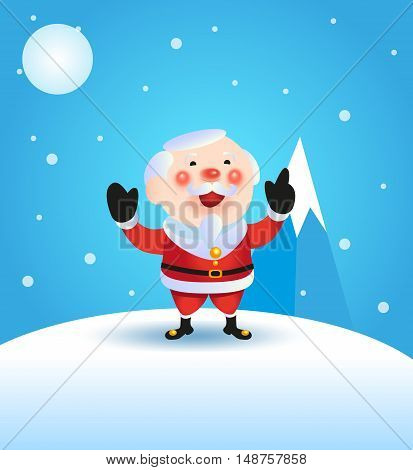 Vector illustration on a Christmas theme with Santa Claus