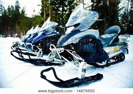 Snowmobiles or Skidoos