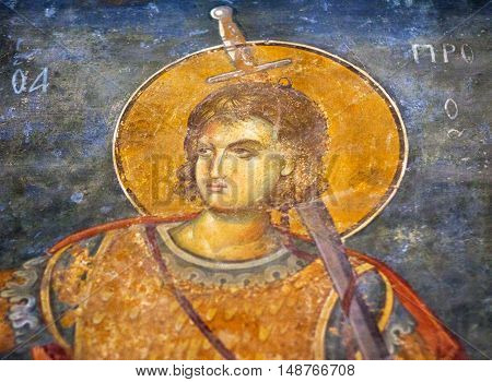 Ancient Painted Fresco In The Church Of The Holy Saviour In Chora (kariye) In Istanbul, Turkey