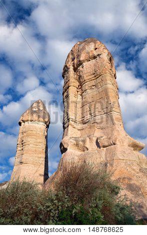 Unique Geological Formations In Cappadocia, Turkey