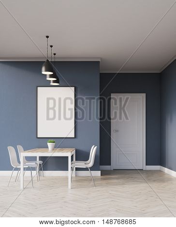 Dining Area With Poster