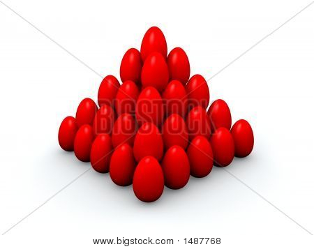 Pyramid Of Easter Eggs