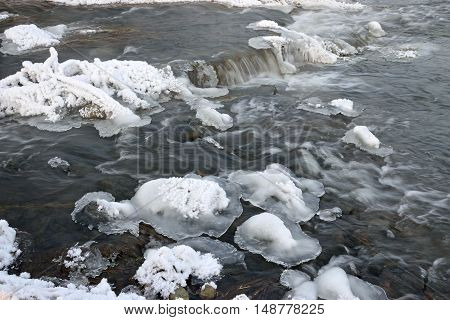 Foaming Rapids Of The River
