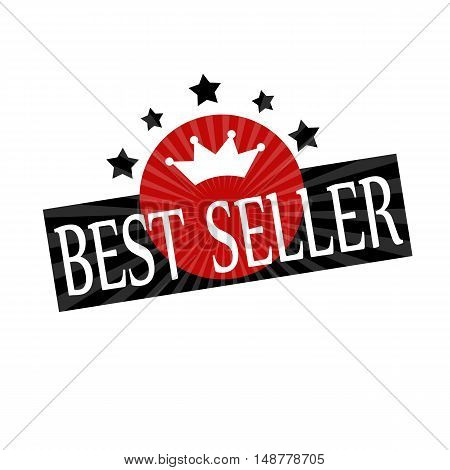 Label with text Best Seller, vector illustration