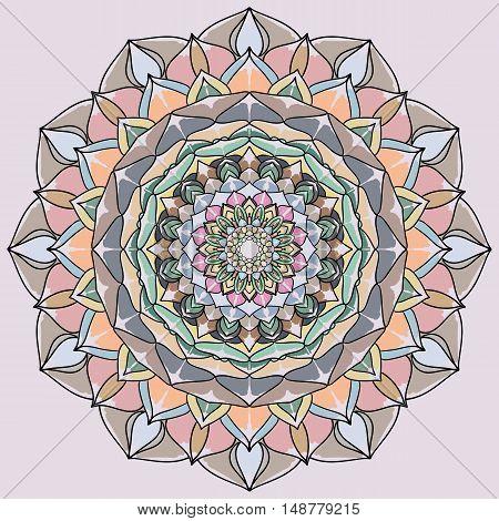 Circle lace ornament round ornamental pattern mandala
