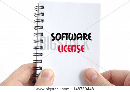 Software license text concept isolated over white background
