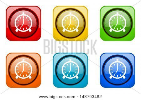 alarm colorful web icons