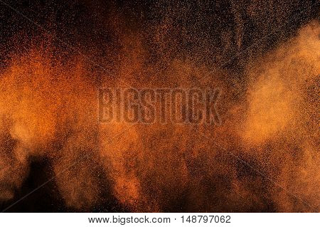 Orange Powder Explosion.