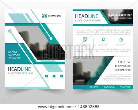 Green cover business Brochure Leaflet Flyer annual report template design book cover layout design abstract business presentation template a4 size design