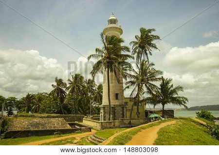 A beautiful light tower in Galle (Sri Lanka).