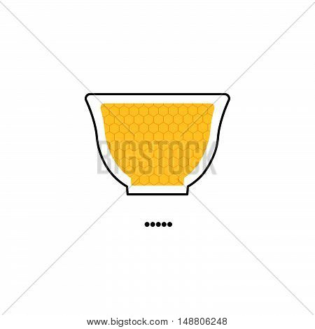 sweet honey vase. icon. logo. vector illustration