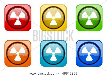 radiation colorful web icons