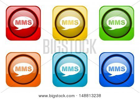 mms colorful web icons