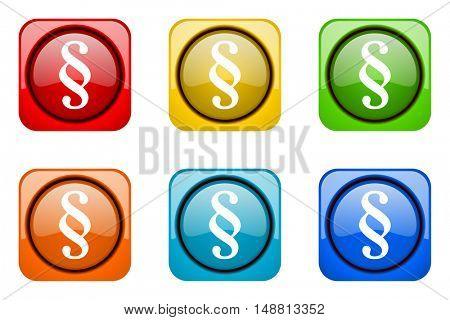 paragraph colorful web icons