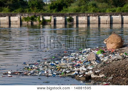 Water Pollution along river