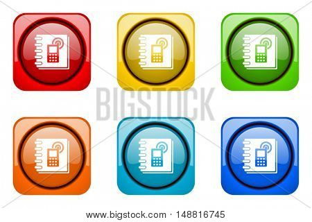 phonebook colorful web icons