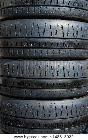 Set Of Motor Sport Rally Car Tires
