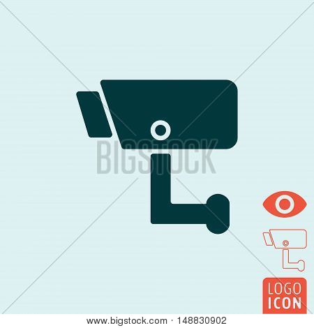 Surveillance icon. Video surveillance CCTV camera symbol. Vector illustration
