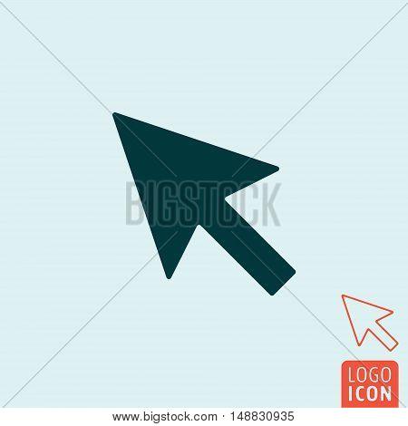 Cursor icon. Arrow cursor symbol. Vector illustration