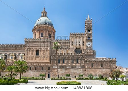 Palermo Cathedral is the cathedral church of the Roman Catholic Archdiocese of Palermo, located in Palermo, Sicily, Italy. The church was erected in 1185 by Walter Ophamil.