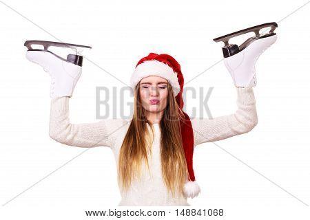 Girl With Santa Claus Cap.