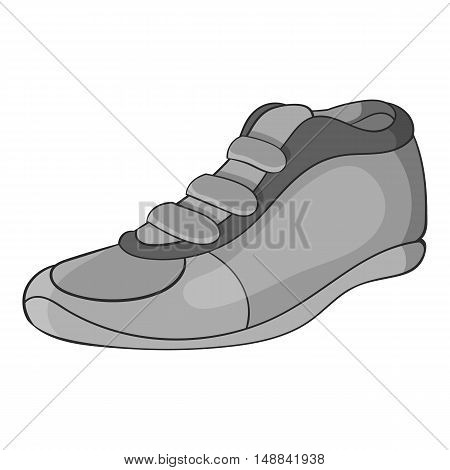 Cleats icon in black monochrome style isolated on white background. Sport shoes symbol vector illustration