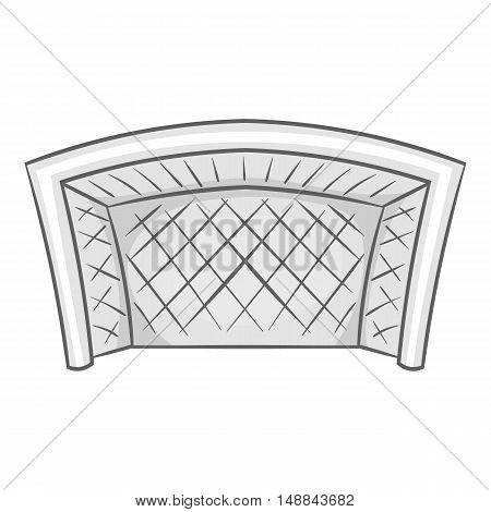 Football goal icon in black monochrome style isolated on white background. Sport symbol vector illustration