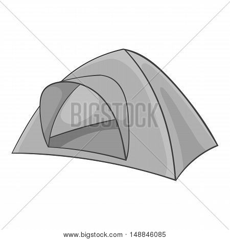 Tent icon in black monochrome style isolated on white background. Equipment symbol vector illustration