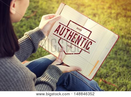 Authentic Certified Genuine Pure Sincere Graphic Concept