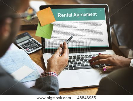 Rental Agreement Assets Concept