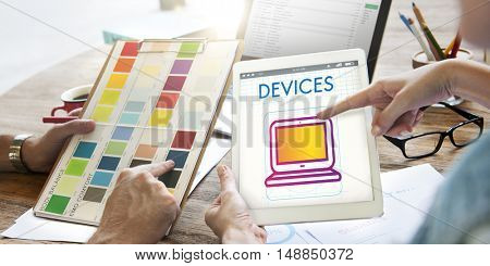 Digital Devices Innovation Multimedia Concept