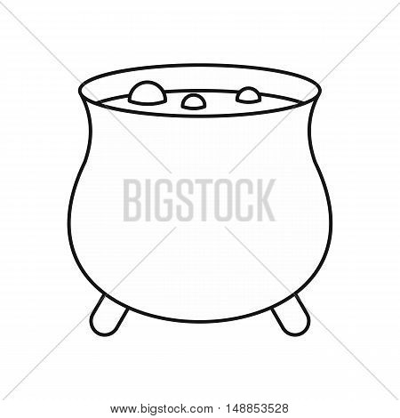 Boiler sorcerer icon in outline style isolated on white background. Cooking symbol vector illustration