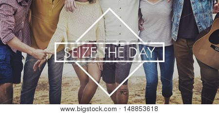 Seize The Day Breath Enjoyment Relaxation Relax Concept