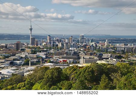 Auckland, New Zealand, viewed from Mount Eden