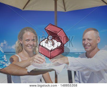 Engagement Ring Box Illustration Concept