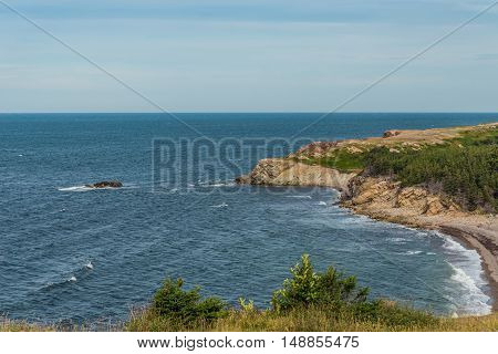 Coastal Scene on the Cabot Trail (Cape Breton Nova Scotia Canada)