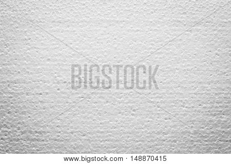 A texture photo of white foamed plastic