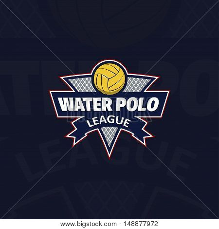 Water polo logo for the team and the cup. vector illustration