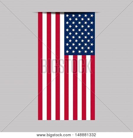 American flag. Vector image of american flag. Flag USA