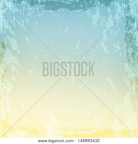 Blue and beige grungy texture with cracks and stains, vintage background