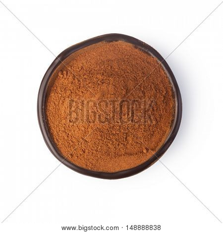 cinnamon spices on white background