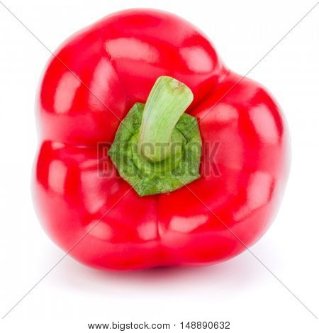 one sweet bell pepper isolated on white background cutout
