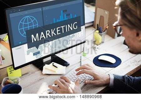 Marketing Research Business Startup Organization Concept