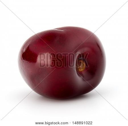 Sweet cherry berry isolated on white background cutout