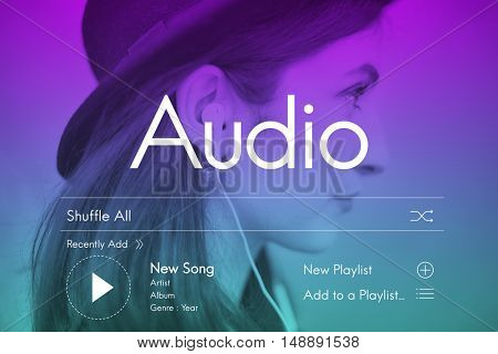 Candid Music Streaming Multimedia Concept