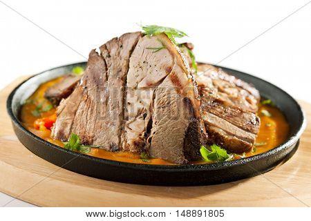Roast Lamb with Mushroom and Tomato